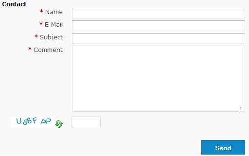 simple ajax contact form view