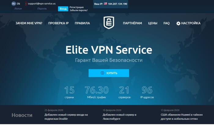 Elite VPN Service - профессиональный впн сервис