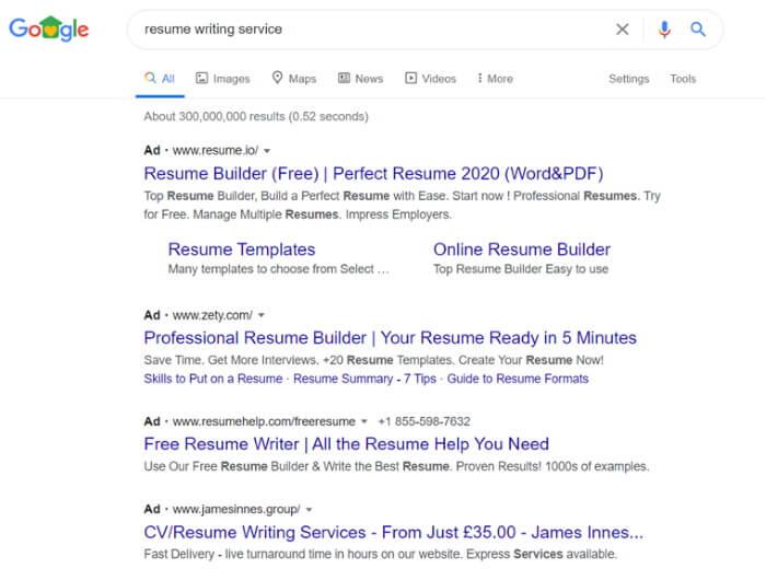 Результаты поиска по запросу: resume writing service