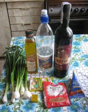 Курица в вине, ингредиенты