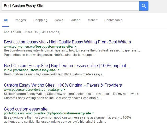 Essay websites